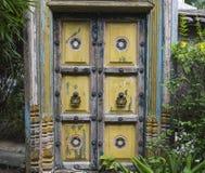 Porta di legno asiatica Fotografia Stock Libera da Diritti