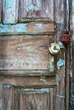 Porta di legno blu, lerciume fotografia stock libera da diritti