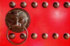 Porta di legno cinese del tempio fotografia stock libera da diritti