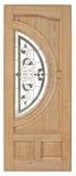 Porta di legno con vetro su fondo bianco Fotografia Stock Libera da Diritti