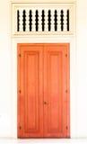 Porta di legno d'annata Immagine Stock