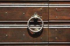 Porta di legno d'annata Immagini Stock