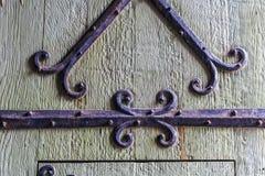 Porta di legno del vecchio castello, signore, Fiandre, Belgio Immagini Stock Libere da Diritti