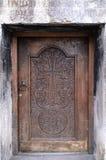 Porta di legno dell'entrata Fotografie Stock