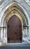 Porta di legno della chiesa Immagine Stock Libera da Diritti