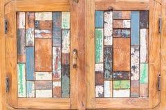 Porta di legno di art deco Immagini Stock