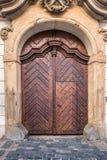 Porta di legno di Brown Immagine Stock