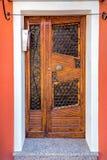 Porta di legno pittoresca Immagine Stock