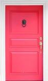 Porta di legno rossa d'annata fotografia stock