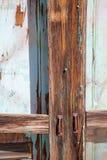 Porta di legno stagionata Immagini Stock Libere da Diritti