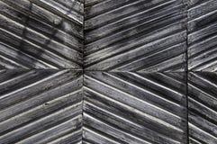 Porta di legno stagionata grigia Immagine Stock Libera da Diritti