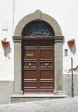 Porta di legno. Viterbo. Il Lazio. L'Italia. Immagini Stock Libere da Diritti