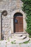 Porta di legno. Viterbo. Il Lazio. L'Italia. Fotografia Stock Libera da Diritti