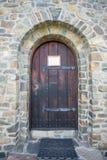 Porta di pietra della chiesa Fotografie Stock
