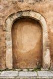 Porta di pietra imbarcata su Immagine Stock Libera da Diritti
