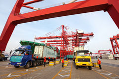 Porta di Qingdao Immagine Stock Libera da Diritti