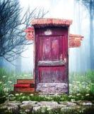 Porta di rosso di fantasia Fotografie Stock Libere da Diritti