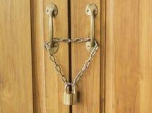 Porta di serratura Immagini Stock Libere da Diritti