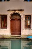 Porta di Venezia con il canale Fotografia Stock Libera da Diritti