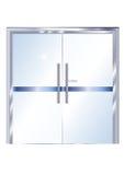 Porta di vetro metallica dell'ufficio - vettore Immagine Stock