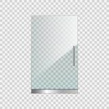 Porta di vetro trasparente su fondo semplice Fotografia Stock