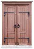 Porta di via di legno molto semplice nel retro stile d'annata fotografia stock libera da diritti