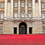 Porta dianteira do Buckingham Palace - Londres Foto de Stock