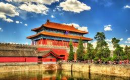 A porta Divine pôde na Cidade Proibida - Pequim foto de stock