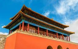 A porta Divine pôde na Cidade Proibida - Pequim imagem de stock royalty free