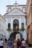 A porta do alvorecer em Vilnius fotografia de stock royalty free