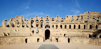 Porta do Amphitheatre do EL Djem imagem de stock royalty free