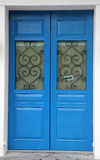 A porta do azul Foto de Stock