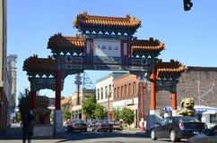 Porta do bairro chinês em Portland, Oregon Imagens de Stock Royalty Free