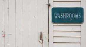 Porta do banheiro fotografia de stock