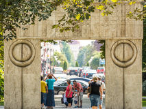 A porta do beijo (Poarta Sarutului) Fotos de Stock Royalty Free