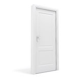 porta do branco 3d Fotos de Stock Royalty Free