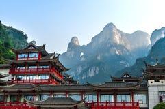 A porta do céu de Tianmen Shan na montanha de Tianmen foto de stock