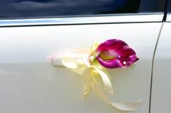 Porta do carro do casamento Imagens de Stock Royalty Free