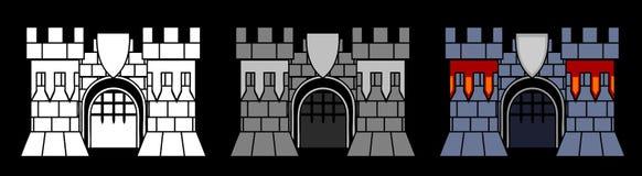 Porta do castelo ilustração royalty free