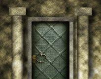 Porta do castelo ilustração do vetor
