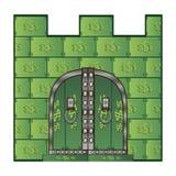 Porta do castelo dos dólares Imagens de Stock