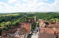 Porta do castelo em Rothenburg Fotografia de Stock