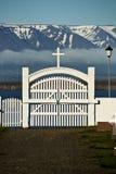 Porta do cemitério Fotografia de Stock Royalty Free