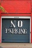 Porta do centro da garagem Imagens de Stock Royalty Free