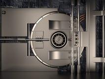 Porta do cofre-forte, 3D Foto de Stock