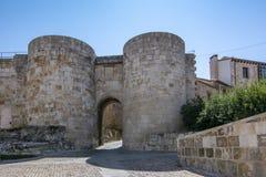 Porta do ` de Doña Urraca do ` em paredes da cidade de Zamora, Espanha Fotos de Stock Royalty Free