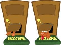Porta do Doggie ilustração stock