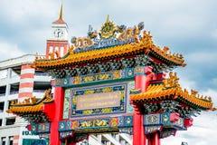 Porta do dragão, bairro chinês Banguecoque Tailândia Foto de Stock