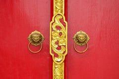 Porta do estilo chinês foto de stock