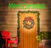 Porta do Feliz Natal Imagens de Stock